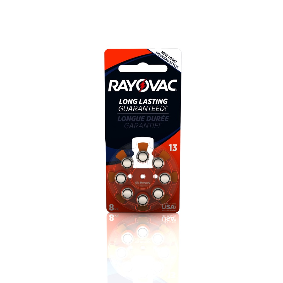 RAYOVAC® hearing aid batteries size 13 8 pack
