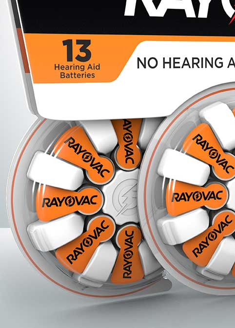 rayovac hearing aid battery size 13 16 pack