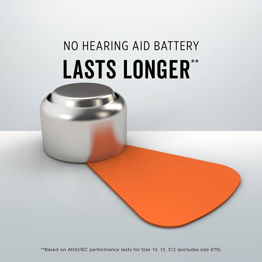 no hearing aid battery lasts longer* size 13