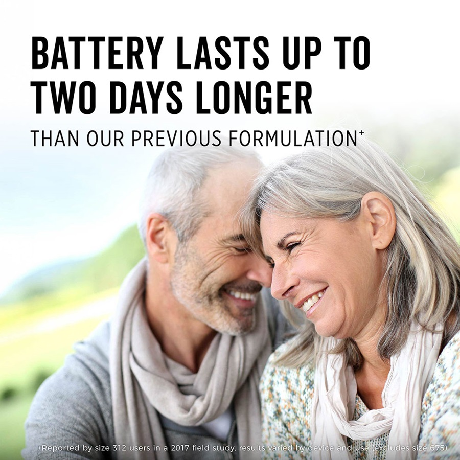 battery lasts up to two days longer than our previous formulation*