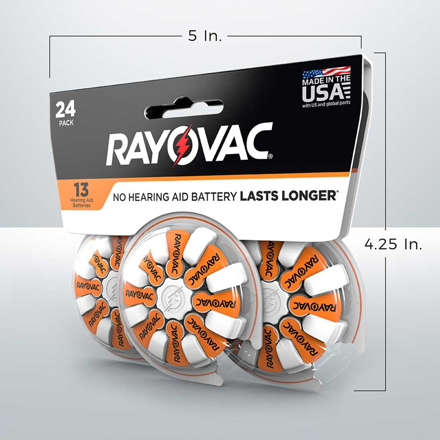 rayovac hearing aid batteries size 13 24 pack 5