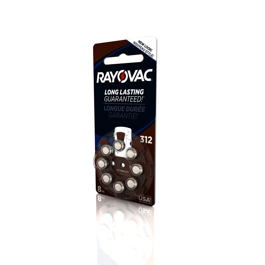 RAYOVAC® hearing aid batteries size 312 8 pack