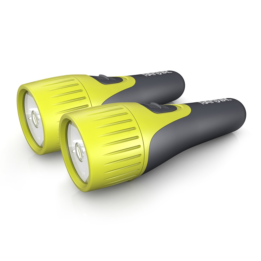 VBL1D-B2 Brite Essentials 1D LED Comfort Grip Flashlight Twin Pack