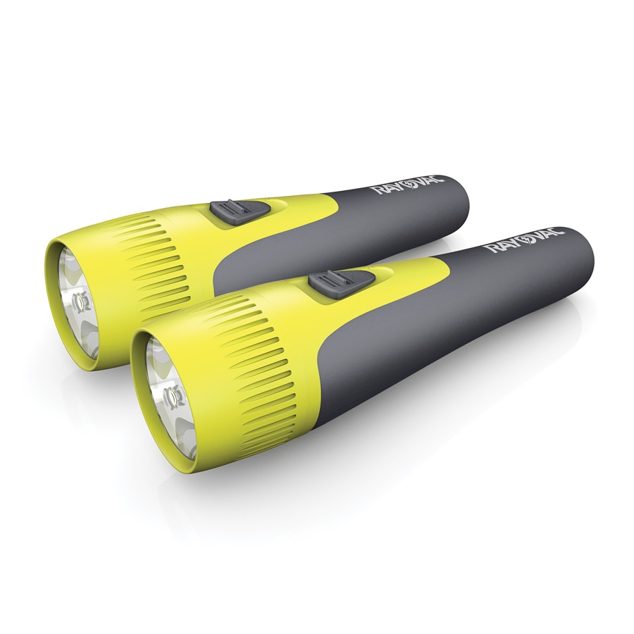 VBL2AA-B2 Brite Essentials 2AA LED Comfort Grip Flashlight Twin Pack