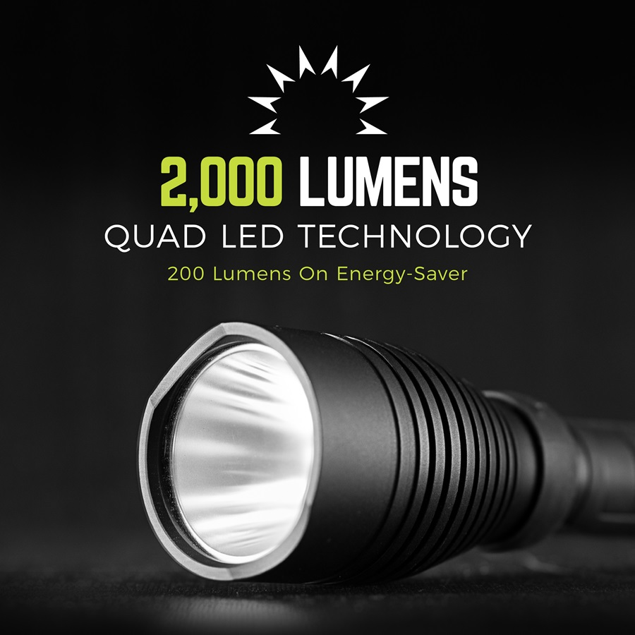2000 Lumens Quad LED Technology, 200 lumens on energy-saver | RWP123A-B