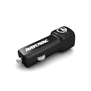 Rayovac Qualcomm® Quick Charge™ 2.0 USB Car Adapter