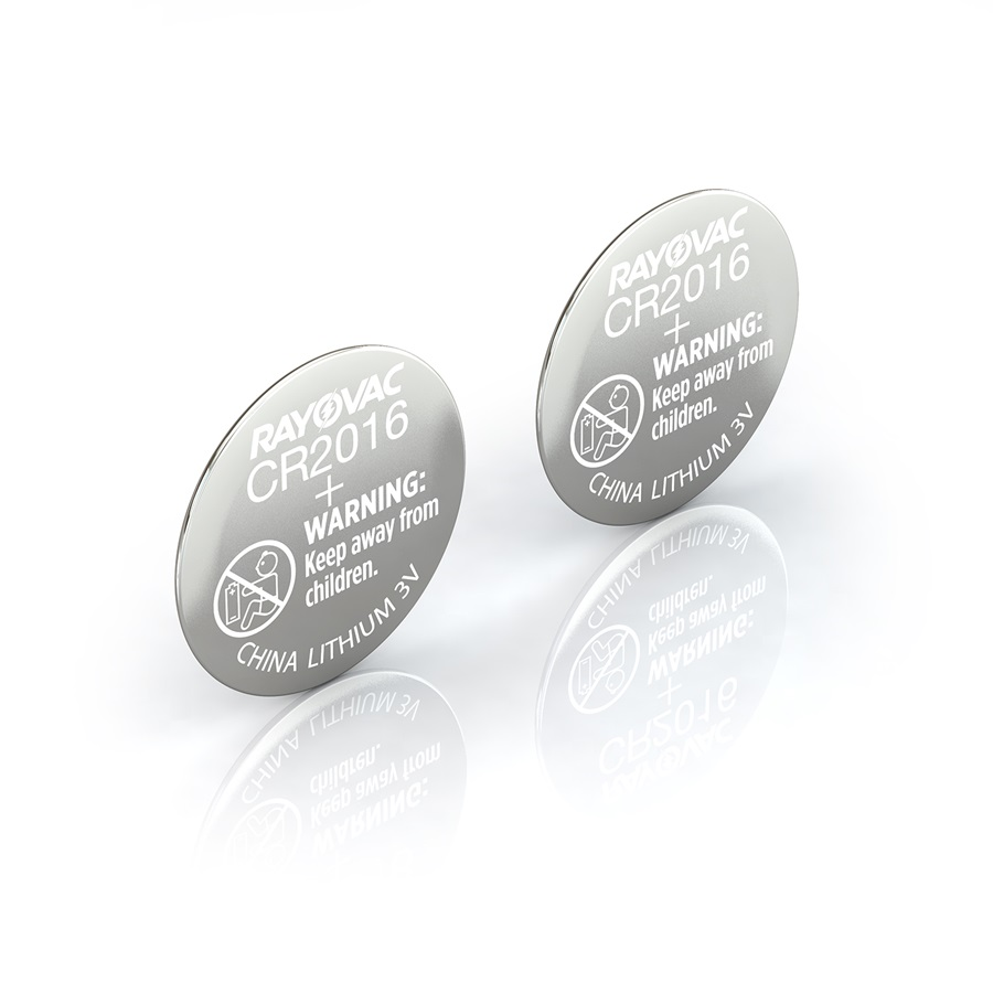 Rayovac® kecr2016-2c lithium coin cell batteries