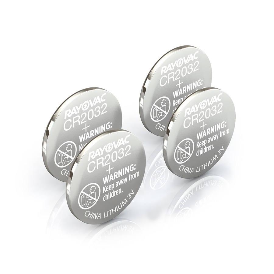 RAYOVAC® kecr2032-4ct lithium coin cell batteries