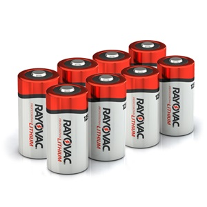 RAYOVAC® 123A photo lithium batteries 8 pack