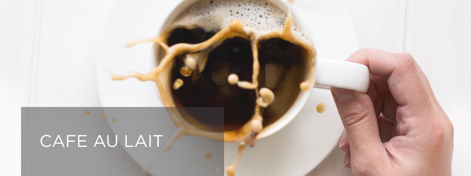 Cafe-au-Lait Recipe Banner