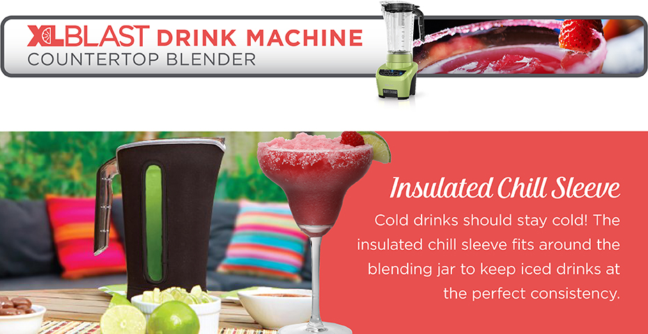 Blacck+Decker® xlblast counter party blender bl4000l lime