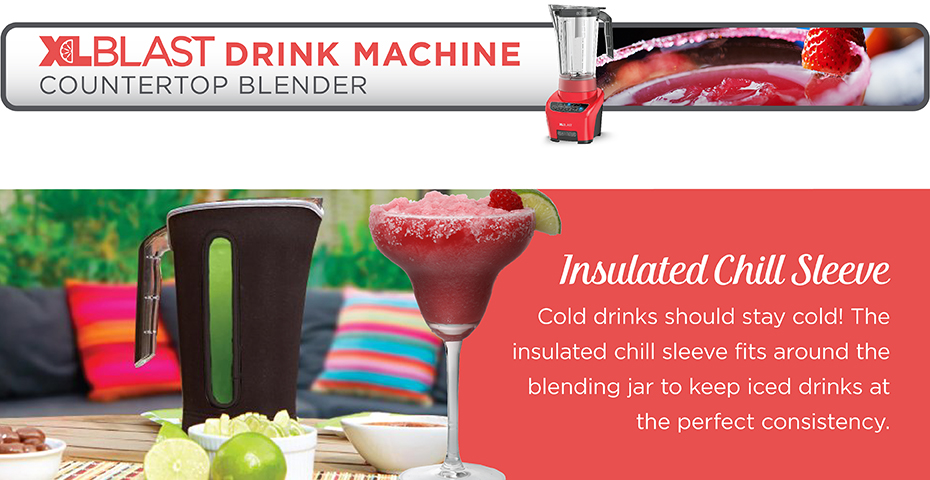 Black+Decker® xlblast counter party blender bl4000r red