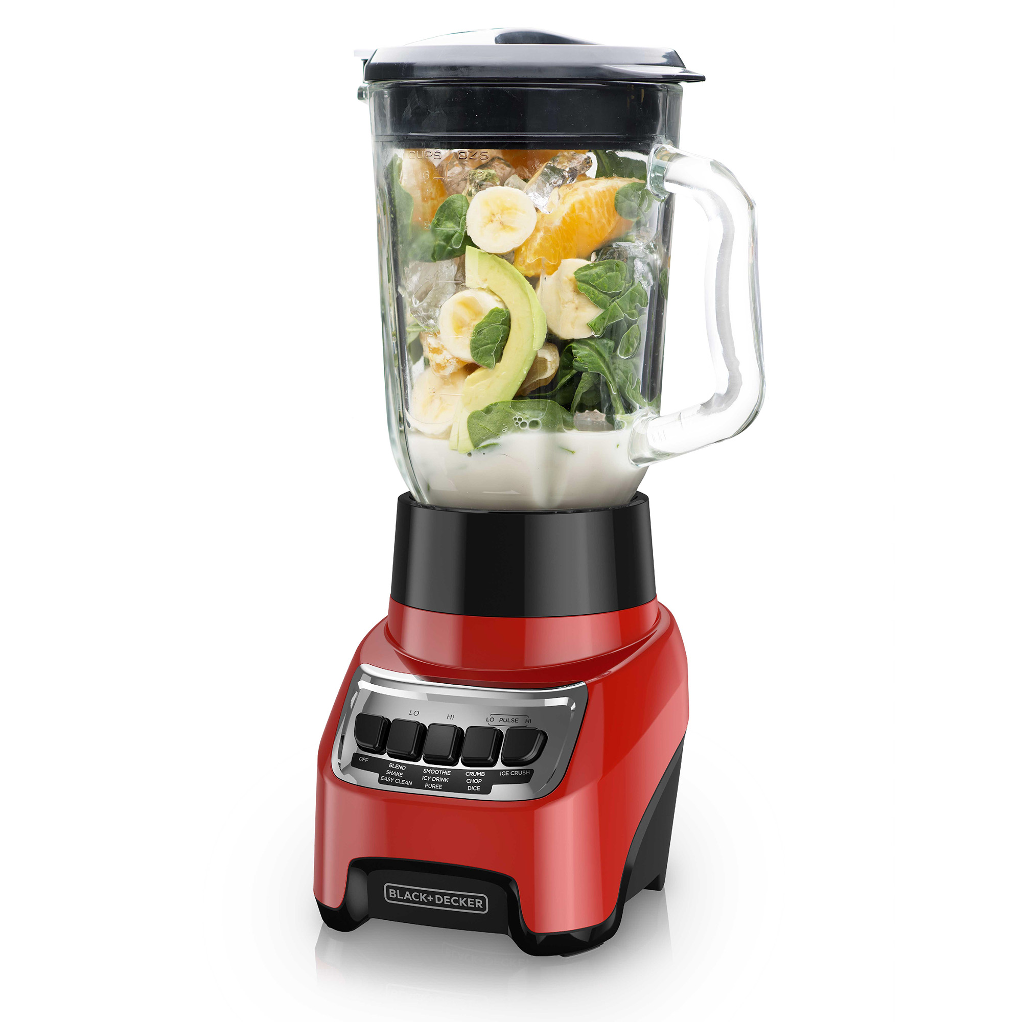 powercrush multi function blender with 6 cup glass jar red rh blackanddeckerappliances com Manual Blender Purchase Hand Blender