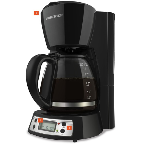 Shop BLACK+DECKER Coffee Makers now! 12-Cup Programmable BCM1410B BLACK + DECKER