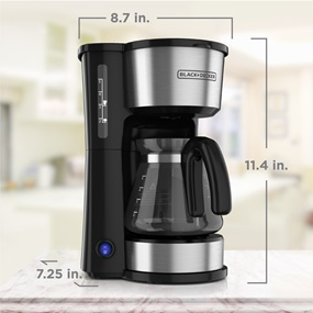 black and decker 5 in 1 coffee maker scaled image cm0755s