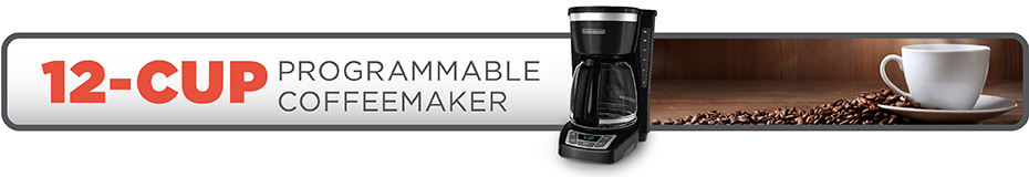 Black And Decker Coffee Maker Timer Instructions : BLACK+DECKER 12-Cup Programmable Coffeemaker CM1160B BLACK + DECKER
