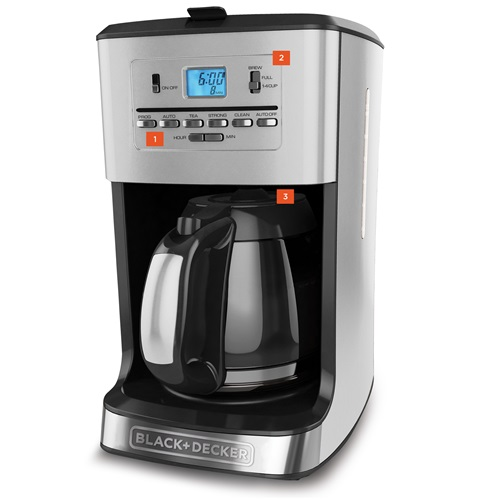 Black+Decker 12 Cup Tea And Coffee Maker CM3005S