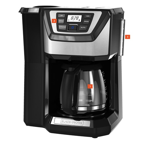Black And Decker Coffee Maker Timer Instructions : Buy the Black and Decker Mill & Brew Coffeemaker CM5000B