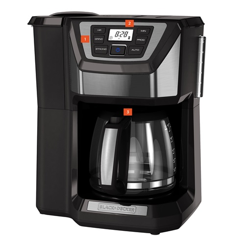 Black And Decker Coffee Maker Timer Instructions : Buy the Black and Decker Mill & Brew Coffeemaker CM5000GD