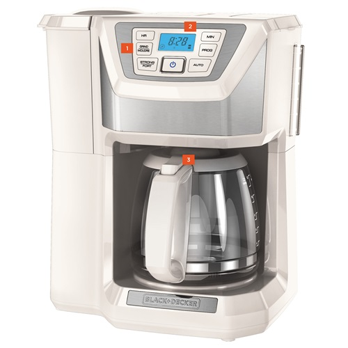 Black And Decker Coffee Maker Timer Instructions : Buy the BLACK+DECKER Mill & Brew Coffeemaker CM5000WD BLACK + DECKER