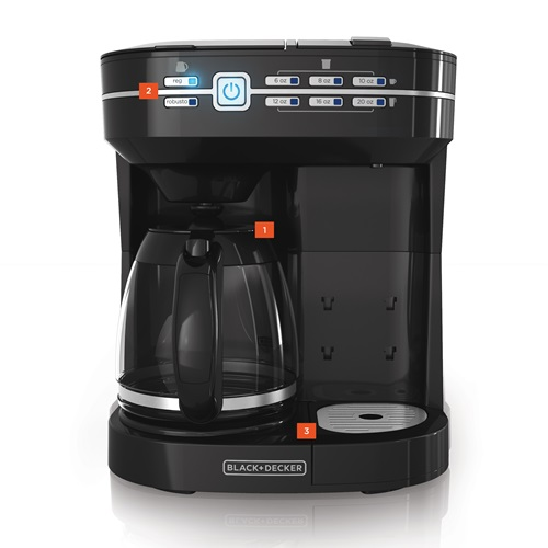Black And Decker Coffee Maker Cleaning Instructions : Cafe Select Dual Brew Coffeemaker BLACK + DECKER