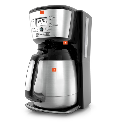 BLACK+DECKER™ 12 cup programmable thermal coffee maker cm2036s