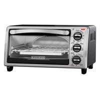 BLACK+DECKER™ 4-Slice Convection Oven, Stainless Steel, Black, TO1313SBD