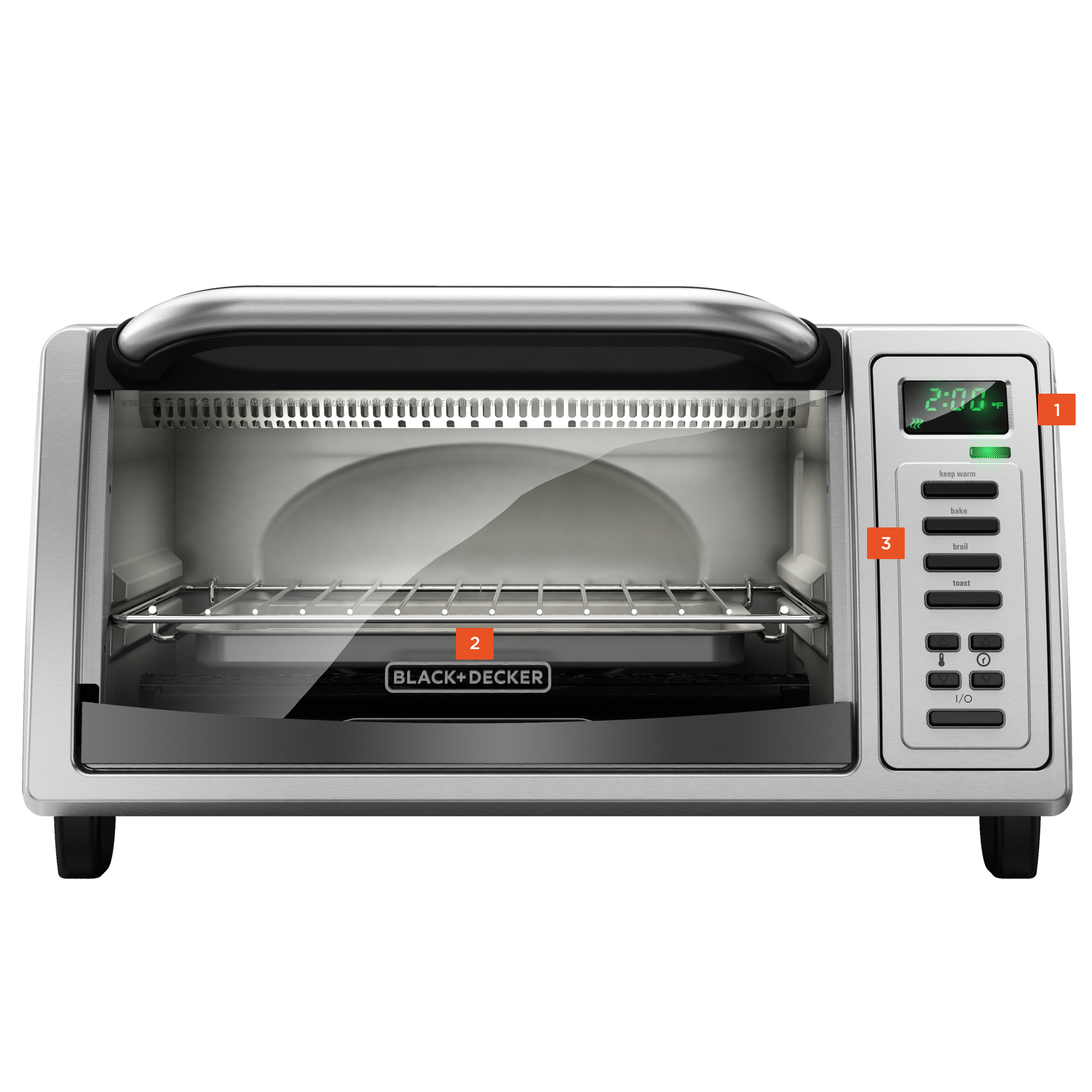 convection and toaster ovens cooking appliances black decker rh blackanddeckerappliances com black & decker toaster oven user manual black & decker toaster oven instruction manual