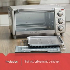 includes broil rack bake pan and crumb tray TO1745SSG