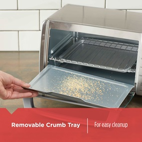 removable crumb tray for easy cleanup TO1745SSG