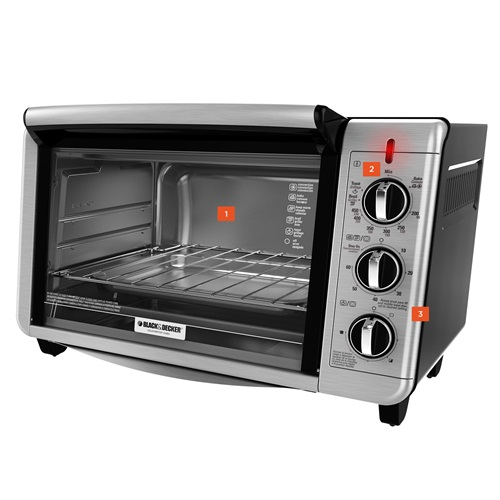 6 slice convection countertop toaster oven black decker. Black Bedroom Furniture Sets. Home Design Ideas