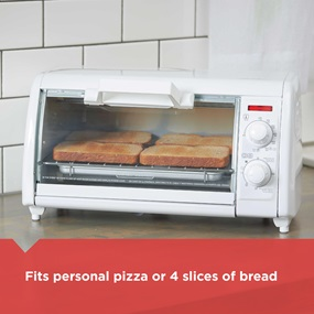 Fits personal pizza or 4 slices of bread | TRO420