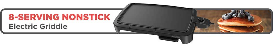 black and decker family sized electric griddle with warming tray gd2051b