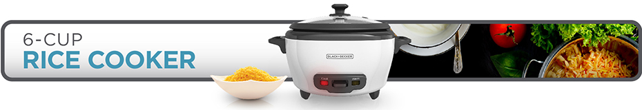RC506 BLACK + DECKER™ 6-Cup Rice Cooker