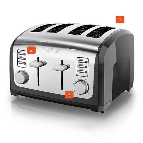 black and decker T4030 4 slice toaster