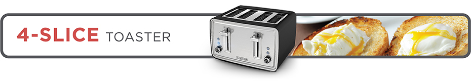Black+Decker® 4 slice toaster tr4900sbd black