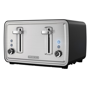 Black Decker 4 slice toaster tr4900sbd black