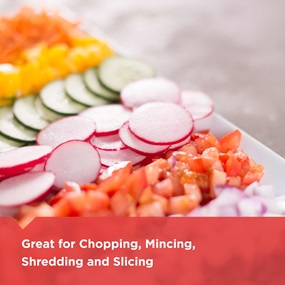 chopping, mincing, shredding and slicing