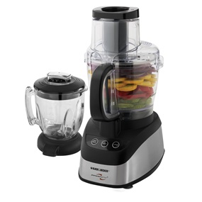 Black And Decker Powerpro Wide Mouth  Cup Food Processor Black