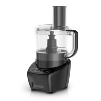 3-In-1 Easy Assembly 8-Cup Food Processor, Black