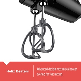 helix beaters maximize beater overlap for fast mixing mx600b