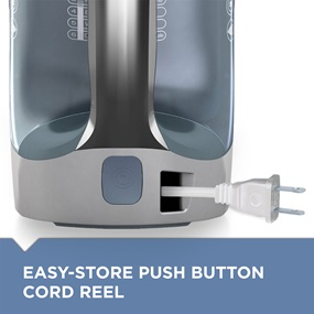 easy-store push button cord reel