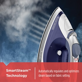 SmartSteam™ Technology automatically regulates and optimizes steam based on fabric setting