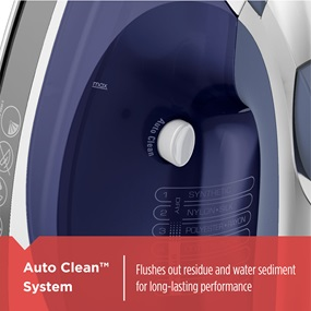 Auto Clean™ System flushes out residue and water sediment for long-lasting performance