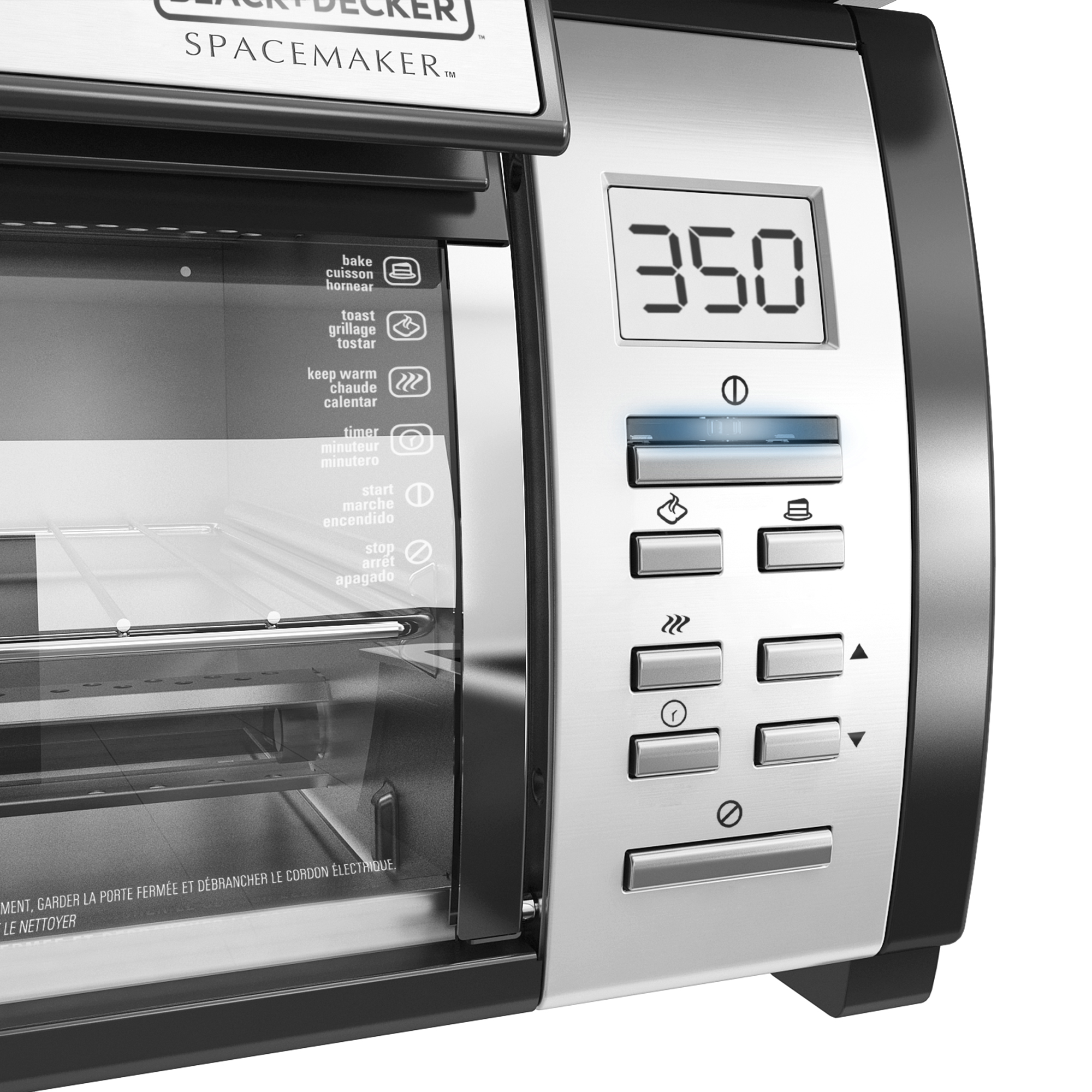 Genial SpaceMaker™ Under The Cabinet 4 Slice Toaster Oven