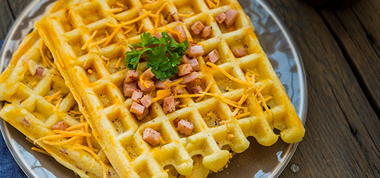 black and decker ham and cheese waffles recipe