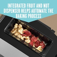 Intagrated fruit and nut dispenser, helps automate the baking process