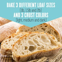 Bake 3 different loaf sizes and 3 crust colors