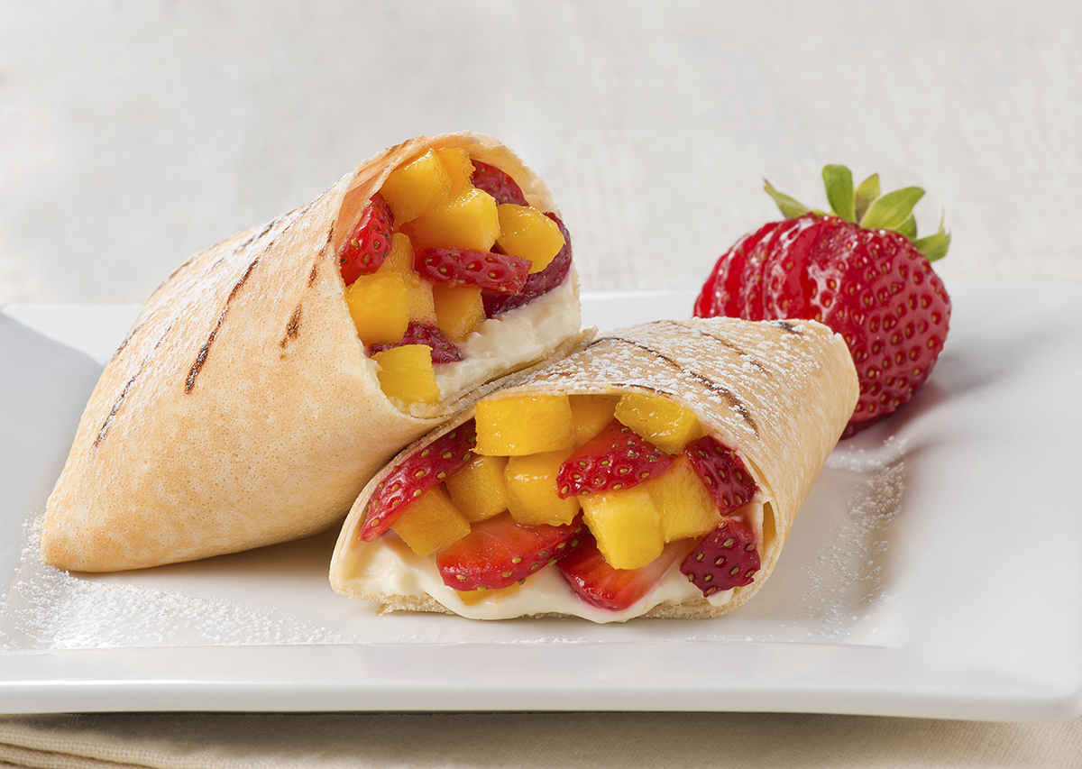Fruit Stuffed Crepe Burrito