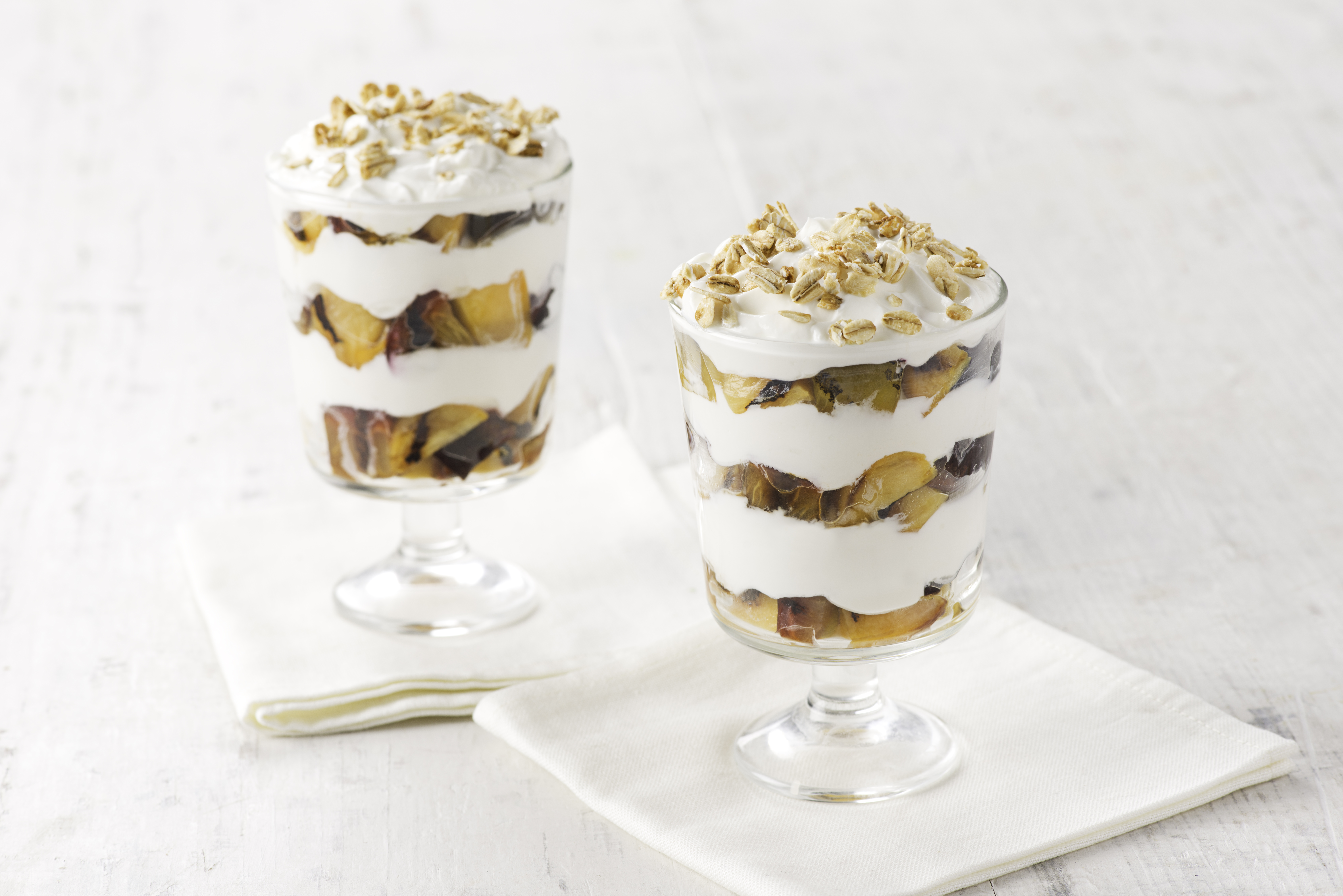 grilled stone fruit yogurt parfait recipe image George Foreman™ evolve grill